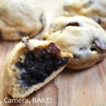 Oreo Truffle Stuffed Chocolate Chip Cookies are decedent oreo truffles encased in a soft and rich chocolate chip cookie. These are definite winner! #recipe #oreotruffles #chocolatechipcookies