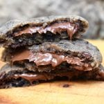Nutella Stuffed Cookies and Cream Cookies are lusciously soft and chewy cookies packed full of crushed Oreos, chocolate chips, stuffed with ooey, gooey Nutella! #nutellacookies #oreos #cookiesandcreamcookies #nutellacookiesandcreamcookies #nutellastuffedcookies #oreonutellacookies #nutellaoreocookies