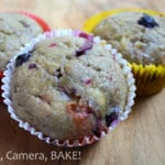 Berry and White Chocolate Muffins: Super soft, dense and pillowy muffins packed full of berries and whit chocolate. Eat them warm for melty chocolate! #berryandwhitechocolate #muffinsrecipe #berrymuffins