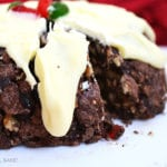 This No Bake Christmas Pudding combines Christmas cake fruit mix, crushed arrowroot biscuits, chopped walnuts held together with a chocolate mixture that is then set in the fridge. Top it all off with white chocolate and a glace cherry and you have yourself a merry little Christmas indeed.